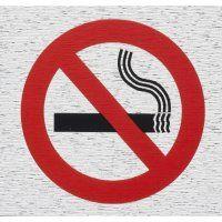 SIGN SELF ADHESIVE ROSEBUD NO SMOKING SY