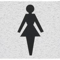 SIGN SELF ADHESIVE ROSEBUD WOMAN SYMBOL