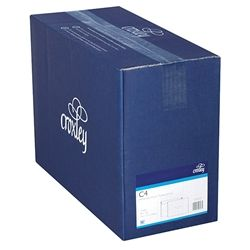 CROXLEY ENVELOPES C4 PL/WHITE T/S BX250