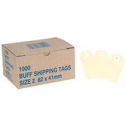 SHIPPING TAGS BUFF NO.2 89X41MM BX/1000