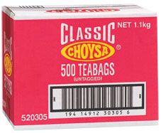 CHOYSA TEA BAGS BOX/500
