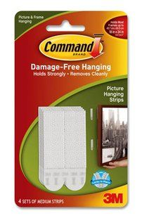 3M COMMAND PICTURE HANGING STRIPS MEDIUM