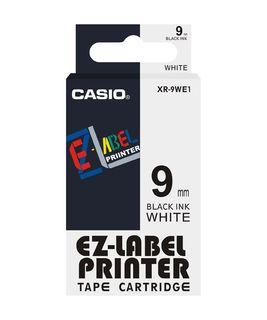 CASIO LABELLING TAPE 9MM BLACK/WHITE XR9