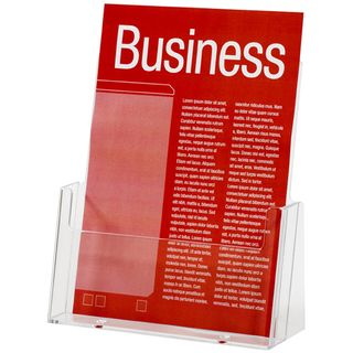 BROCHURE HOLDER ESSELTE CLEAR A5 1-TIER