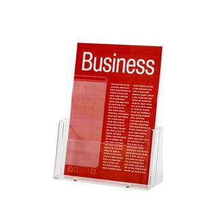 BROCHURE HOLDER ESSELTE CLEAR A4 1-TIER