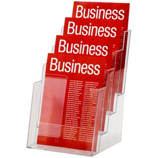 BROCHURE HOLDER ESSELTE CLEAR A5 4-TIER