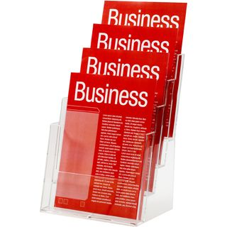 BROCHURE HOLDER ESSELTE CLEAR A4 4-TIER