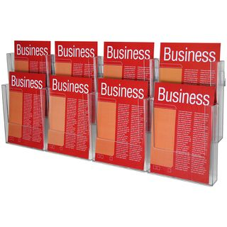 BROCHURE HOLDER ESSELTE WALL SYS A4 2T-8