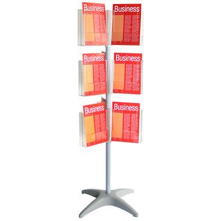 BROCHURE HOLDER CAROUSEL A4 3 LEVEL