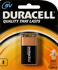 ALKALINE BATTERY 9V DURACELL