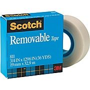 SCOTCH 811 MAGIC REMOVABLE TAPE 19MMX33M