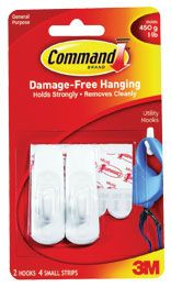 3M COMMAND SMALL UTILITY HOOKS 17002