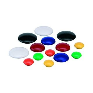 MAGNETIC BUTTONS YELLOW 20MM PKT/10 QUAR