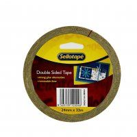 DOUBLE SIDED TAPE 24MM X 33M SELLOTAPE