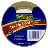 DOUBLE SIDED TAPE 18MM X 33M SELLOTAPE