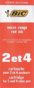 BIC 4 COLOUR PEN REFILL RED