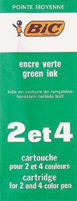 BIC 4 COLOUR PEN REFILL GREEN
