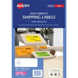 AVERY FLUORO LABELS L7163FP 14 UP PINK
