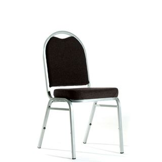 KNIGHT KLUB CHAIR BLACK FABRIC