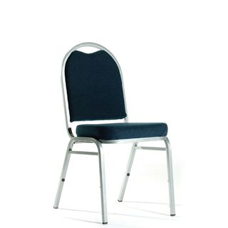 KNIGHT KLUB CHAIR NAVY FABRIC