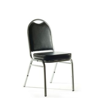 KNIGHT KLUB CHAIR BLACK PU
