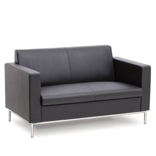 VISITOR SOFA KNIGHT NEO BLACK PU LEATHER