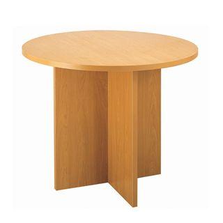 MEETING TABLE ERGOPLAN 900MM DIA TAWA