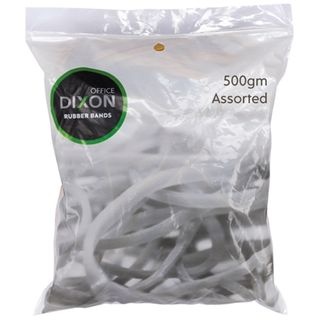 DIXON RUBBER BANDS 500GM ASSORTED