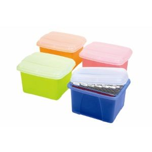 EZYSTACK OFFICE IN A BOX LIME/CLEAR LID