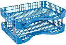BIC LETTER/DOCUMENT TRAYS FLUORO BLUE P2