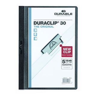 DURABLE DURACLIP FILE A4 BLACK 30 SHEET