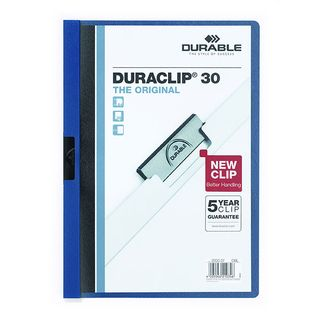 DURABLE DURACLIP FILE A4 DARK BLUE 30 SH