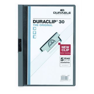 DURABLE DURACLIP FILE A4 GREY 30 SHEET