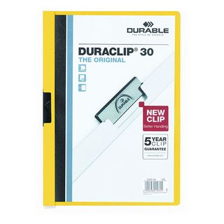 DURABLE DURACLIP FILE A4 YELLOW 30 SHT