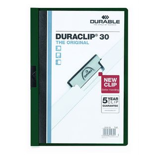 DURABLE DURACLIP FILE A4 GREEN 30 SHEET