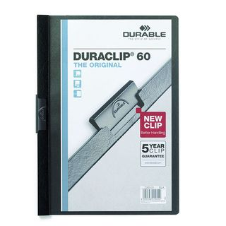 DURABLE DURACLIP FILE A4 BLACK 60 SHEET
