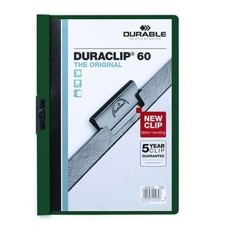 DURABLE DURACLIP FILE A4 GREEN 60 SHEET
