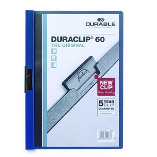 DURABLE DURACLIP FILE A4 DARK BLUE 60 SH