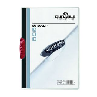 DURABLE SWINGCLIP FILE RED 30 SHEET