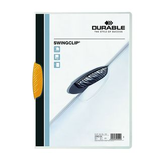 DURABLE SWINGCLIP FILE YELLOW 30 SHEET