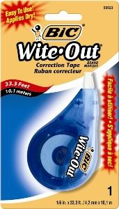 CORRECTION TAPE BIC WITE OUT 4.2MMX12.1M
