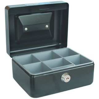 ESSELTE CASH BOX CLASSIC NO.6 BLACK