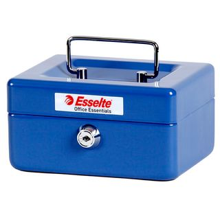 ESSELTE CASH BOX CLASSIC NO.6 BLUE