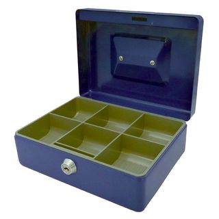 ESSELTE CASH BOX CLASSIC NO.8 BLUE