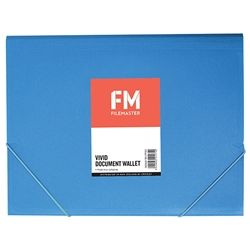 DOCUMENT WALLET FM VIVID ICE BLUE A4