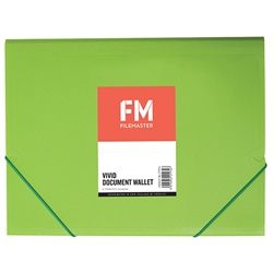 DOCUMENT WALLET FM VIVID LIME GREEN A4