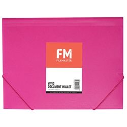 DOCUMENT WALLET FM VIVID SHOCKING PINK