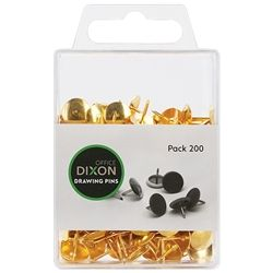 DIXON DRAWING PINS BRASS N03 PACK 200