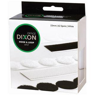 DIXON HOOK & LOOP 62 SPOTS 22MM WHITE