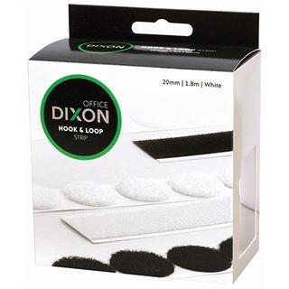 DIXON HOOK & LOOP 1.8M STRIP WHITE 20MM